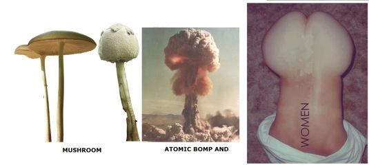 Form in nature mushroomS ATOMIC BOMB WOMEN